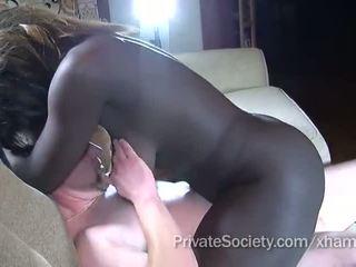 âm hộ cạo, cock sucking, interracial