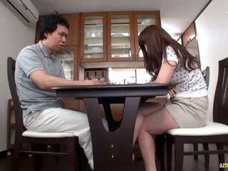 japonês, ejaculação, asiático