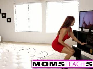 Step mom fucks son in hot threesome se...