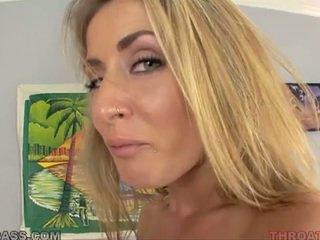 Cum eating cô gái tóc vàng abby vượt qua fucked lược trong throat