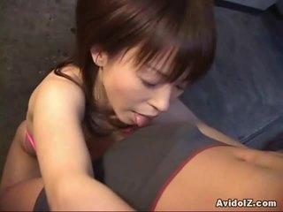 ideaal blow job heet, japanse, controleren pijpbeurt