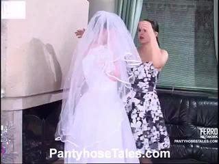 nevěsta, videa, lesbický sex