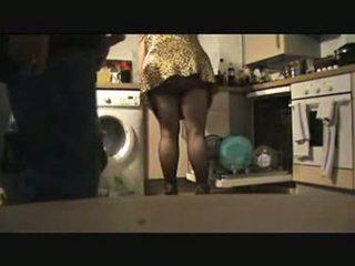 Mans pirmais internet iepazīšanās ar a lielas skaistas sievietes pie viņai mājas