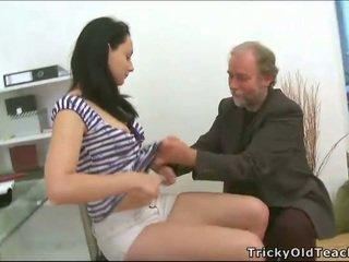 Threesome sex with teacher
