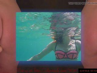 Laimīgs holiday zem ūdens vāvere ar dibens plug pussyplay