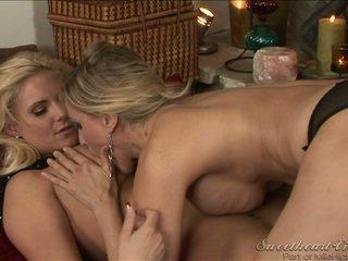 grand sexe lesbien regarder, gros seins, le plus chaud lesbienne vous