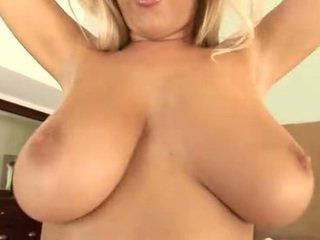 Blonde with big tits gets cock in all holes