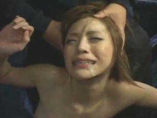 japonês, facial, gangbang