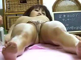 brunette, japanse, vaginale masturbatie