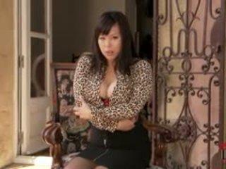 grote borsten, kousen, aziatisch