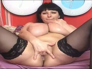 grand, gros seins, webcams