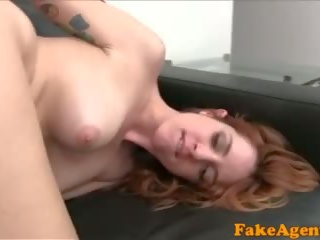 Fake Agent Sexy Spanish Babe in Sexy Photo Shoot Before Blowjob