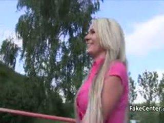 Czech Slut Fucked In Public By Fake Casting Agent
