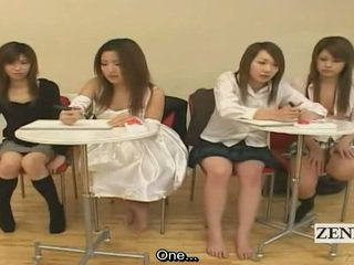 Subtitled ιαπωνικό ερασιτεχνικό quiz παιχνίδι friends παρακολουθείστε σεξ