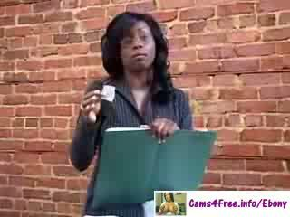Skaistas melnādainas bigtit skolotāja jada uguns!