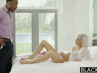 Blacked preppy blondine vriendin kacey jordan cheats met bbc