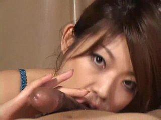 Suurepärane aasia tüdruk reiko yabuki gives a riist a suur suhuvõtmine video