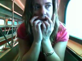 สีแดง ร้อน bird บน a รถไฟ