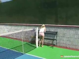 Masturbating Onto The Tennis Court