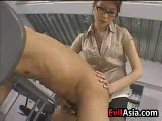 Asian Nerd Fucks A Guy With A Strapon