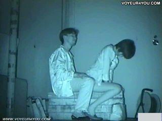 Infrared camera 偷窺 bench park 性別