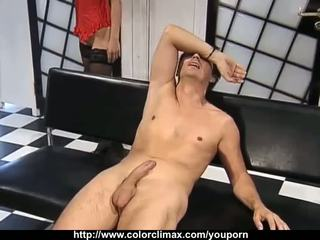 Lucky guy fucked by 3 babes!