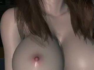 Japanese 3D cute girl sweet fucking