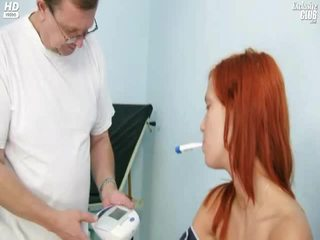 Ginger Young Woman Cookie Scrutiny By Kinky Gyno Doctor