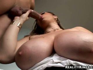 April McKenzie Jacks Off Cock Between Her Huge Natural Tits