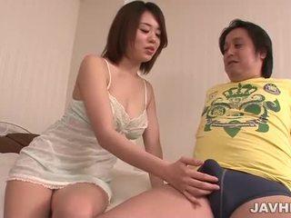 Yuna Satsuki sucking a dick