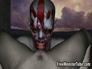 3d zombie babe getting licked en geneukt outdoors