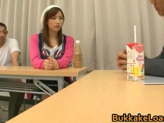 Asian Babe Gets Bukkake One By Bukkake...