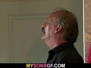 Slutty GF sucks and rides old cock