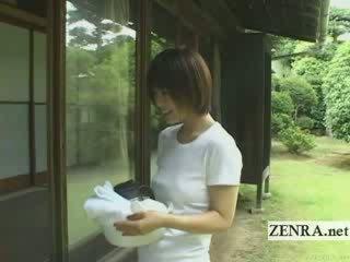 Vreemd cfnm bij thuis japans lul washing subtitled