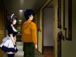 Anime maid seducing her boss