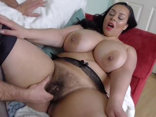 Hairy Busty British MILF Takes Big White Cock: Free Porn fa