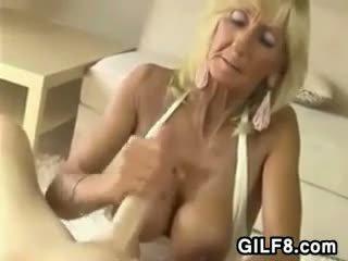 oral, gilf, grandma