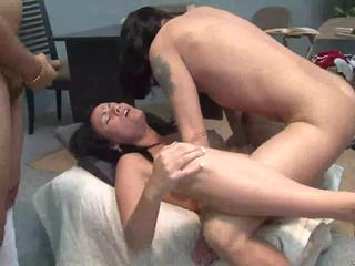 Nice indian wife prepare her cunt for 3 big dicks