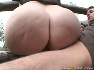 Hor busty brunette with big ass getting pussy fucked hard