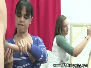 सीफएनएम लड़कियां में कला कक्षा seduced w कॉक
