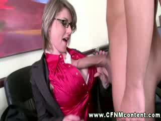 Sucking at this office is condoned by the horny management
