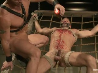 Constrained Dirk Caber Has Bumped By A Man After Wax Action