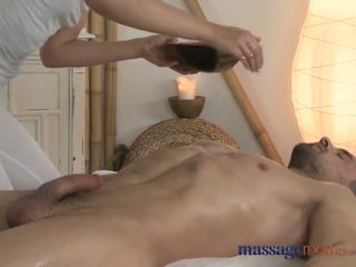 Massage Rooms Horny Girl Gives Prostate Pleasure With Oily Hand Job Video