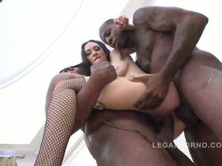 brunette, dubbele penetratie, bbc