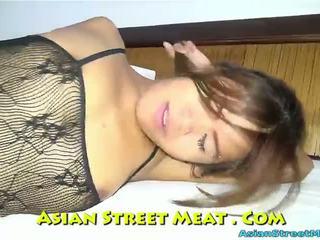 Delightful κώλος γαμήσι σπέρμα dribble σε thailand