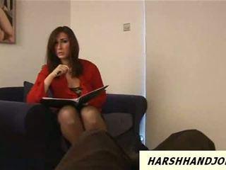Paige turnah gives harsh handjob