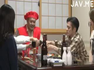 japonais, cul, trio