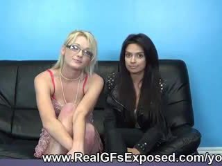 Threesome casting couch