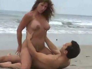 big boobs, beach, brunettes