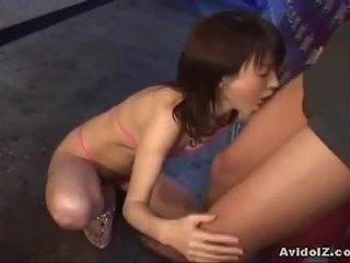 Japanese ai himeno gives him a nice blowjob